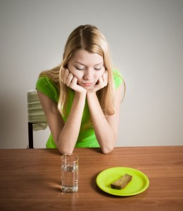 Anorexia Nervosa living in well being image lady has no appetite to food